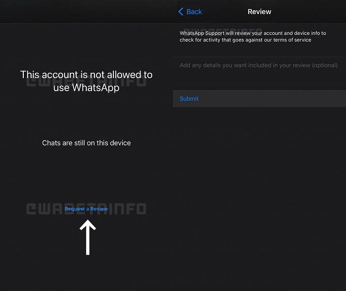 WhatsApp has met blocked iPhone users and changed the calling interface in the new beta version