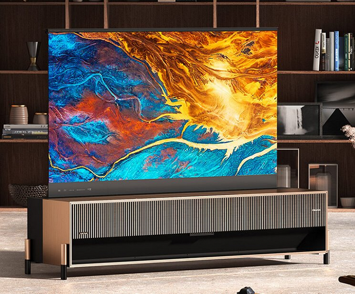 Launch of Hisense's first retractable laser TV with Harmon / Kardon sound and space technology