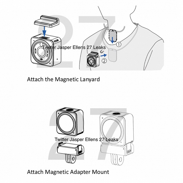 DJI Action 2 will be one of the smallest action cameras around.  Revealed the characteristics and design of the novelty