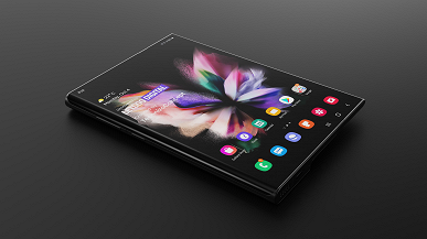 This is what a Samsung Galaxy Z Fold Note smartphone might look like.  The model was created on the basis of the company's patents