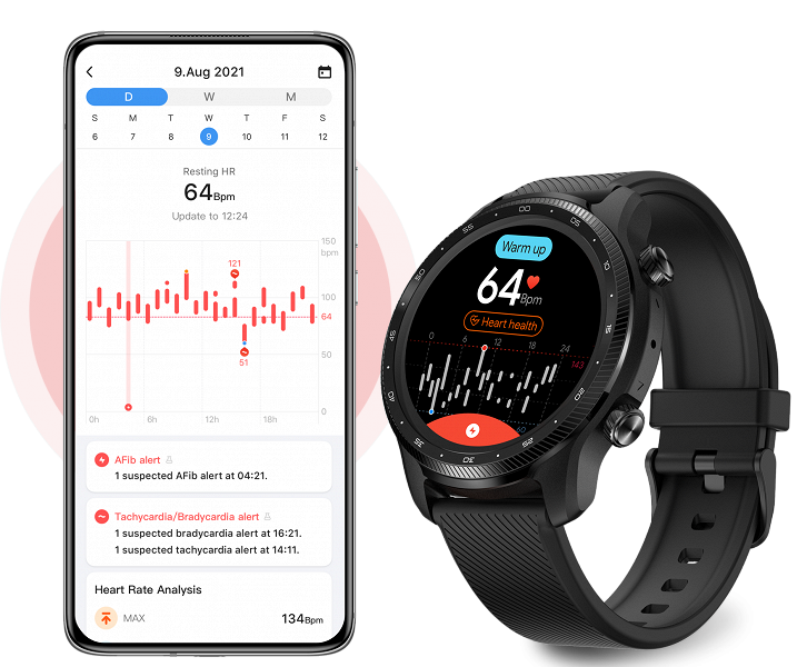 GPS, LTE, dual screens, IP68 and MIL-STD-810G, 20 training modes, heart rate, SpO2 and arrhythmias detection, up to 45 days of battery life.  TicWatch Pro 3 Ultra GPS smartwatch presented