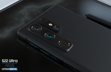 Samsung Galaxy S22 Ultra with a new body shape, a place for an S Pen and two camera options was shown in high-quality renders and in a video