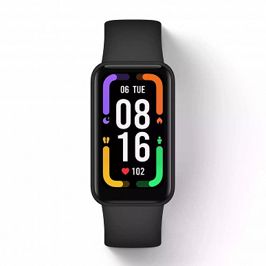 Like Xiaomi Mi Band 6, only with a larger screen.  Redmi Smart Band Pro showed on high-quality renders