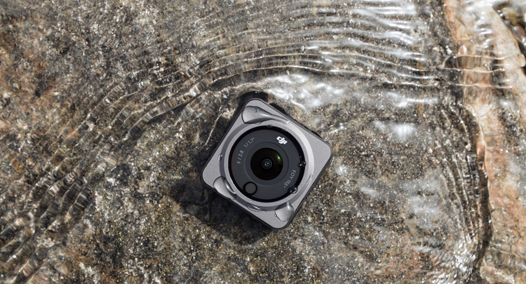 Modular action camera with powerful magnets and OLED screen.  Introduced ultra-compact DJI Action 2 with 4K 120fps video recording