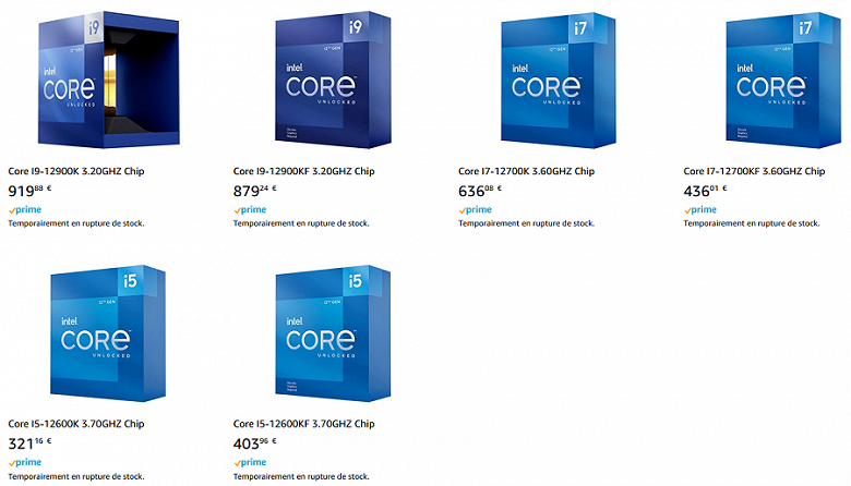 920 euros for the Core i9-12900K.  The cost of Alder Lake processors in Europe is more and more impressive